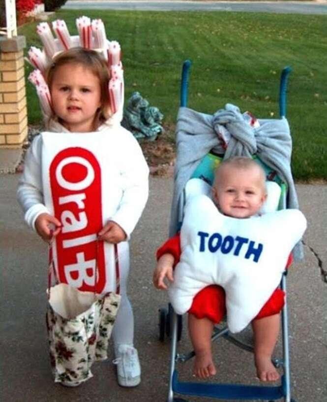 Crianças que estão prontas para o Dia das Bruxas