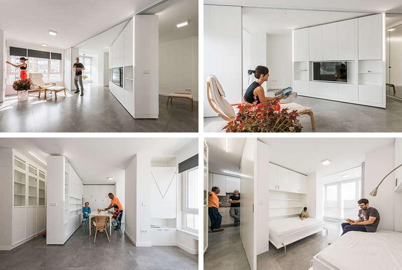 Apartamento com paredes móveis se adequa a todo tipo de família