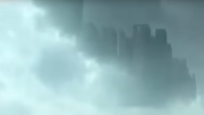 Cidade flutuante aparece na China e causa espanto nas pessoas