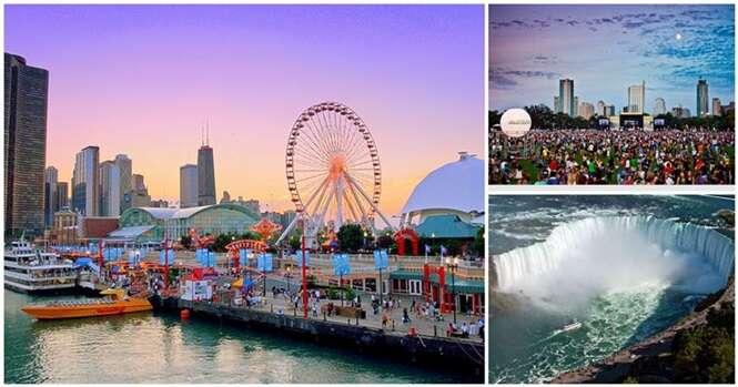 Melhores cidades da América do Norte para se passar as férias