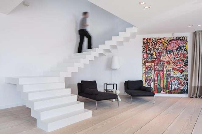 Lindos modelos de escadas sem corrimão