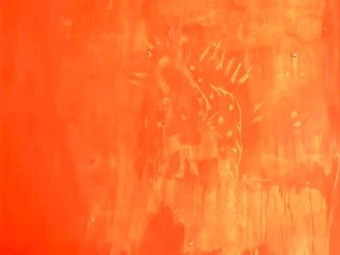 Suposta imagem da Virgem Maria atrai multidões de fiéis ao aparecer em parede de casa recém-pintada