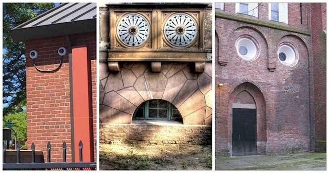 Casas que ganharam rostos ocultos em sua arquitetura