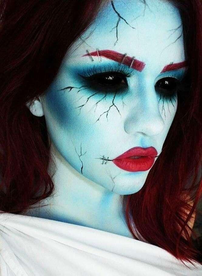 Maquiagens incríveis e aterrorizantes para o Dia das Bruxas