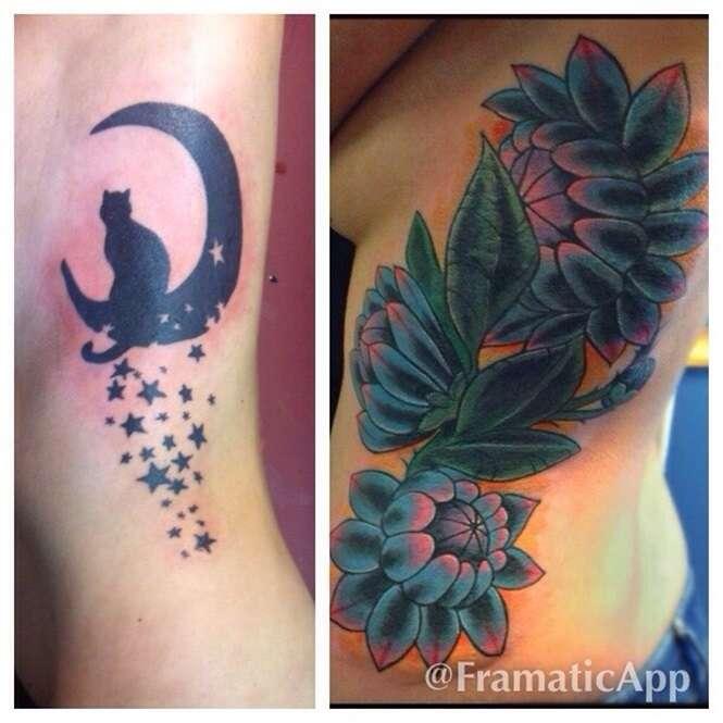 Tatuagens que encobriram outras tatuagens