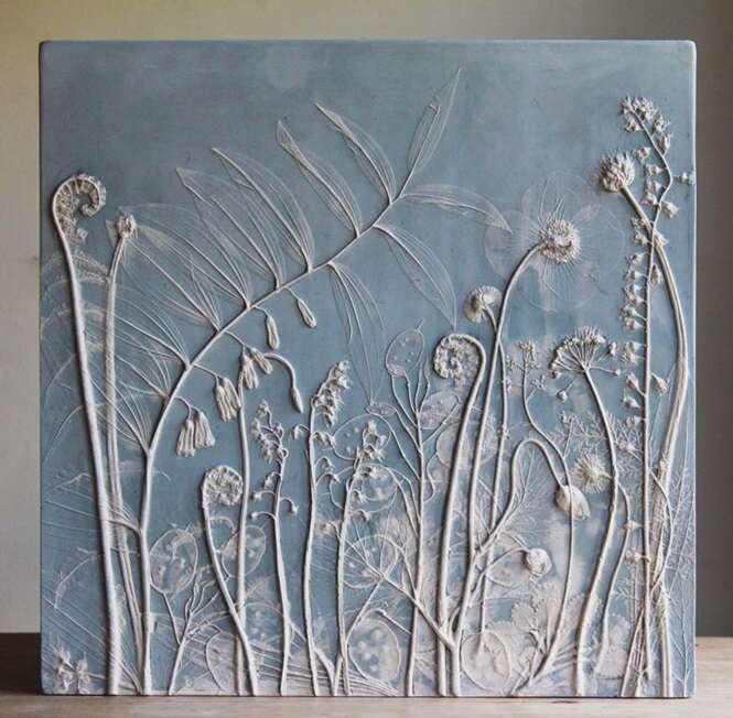 Artista cria quadros incríveis usando plantas