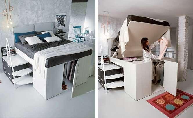 Já pensou ter seu próprio closet embaixo da cama?