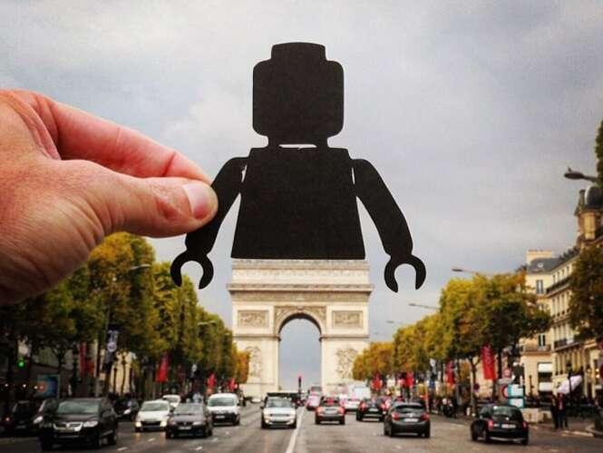 Artista dá nova vida a monumentos com recortes de papel