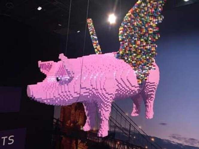 Esculturas da maior exposição de LEGO do mundo