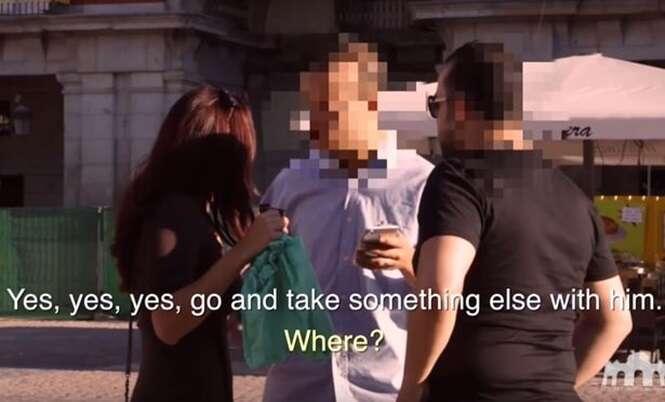 Atriz finge estar bêbada durante experimento social e tem surpresa ao ser abordada por um deles