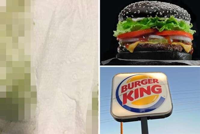 Clientes reclamam que pão de hambúrguer preto do Burger King vem deixando suas fezes na cor verde