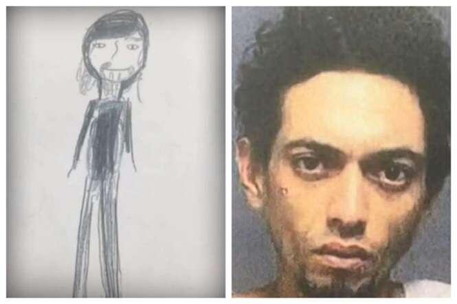 Menina de 11 anos desenha espécie de retrato-falado de ladrão que roubou sua casa