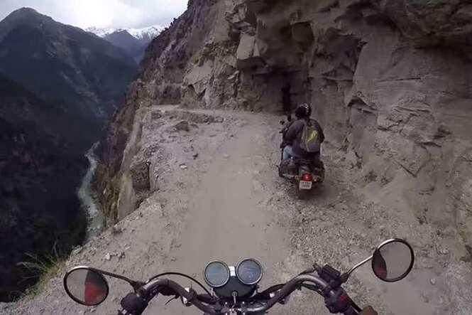 Vídeo mostra como é atravessar uma das estradas mais perigosas do mundo