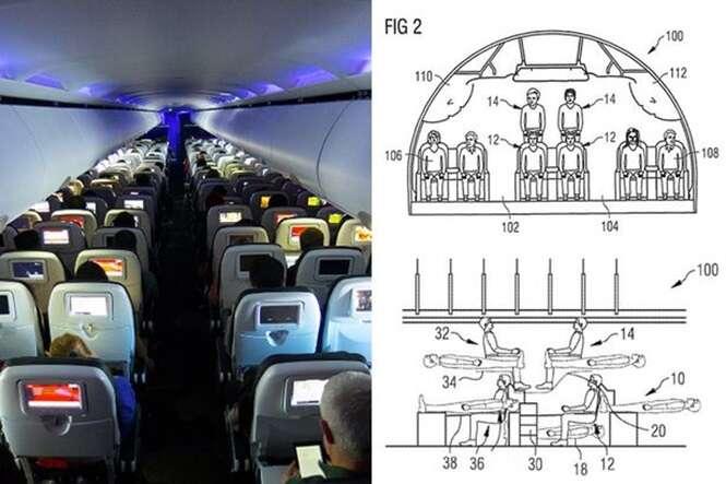 Aviões podem ter passageiros empilhados em cima uns dos outros