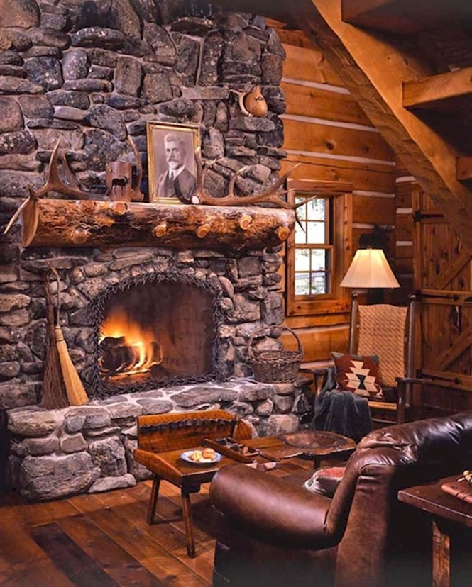 21 Most Unique Wood Home Decor Ideas: 17 Lareiras Rústicas Para Casas De Campo