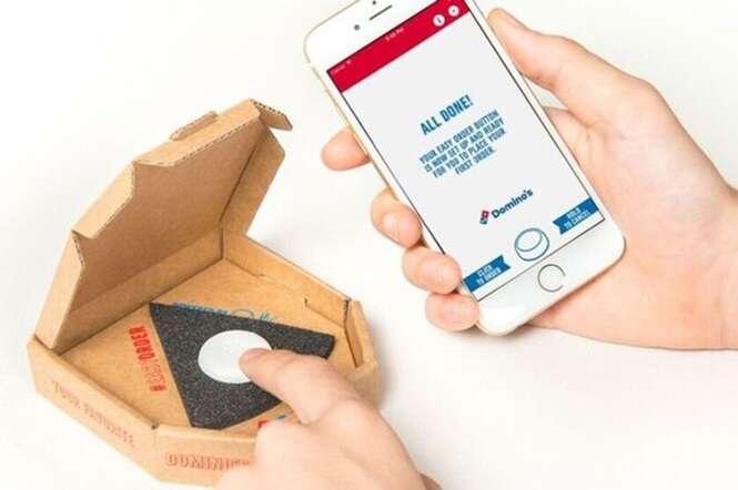 Rede Domino cria sistema que permite pedir pizza através de um simples botão