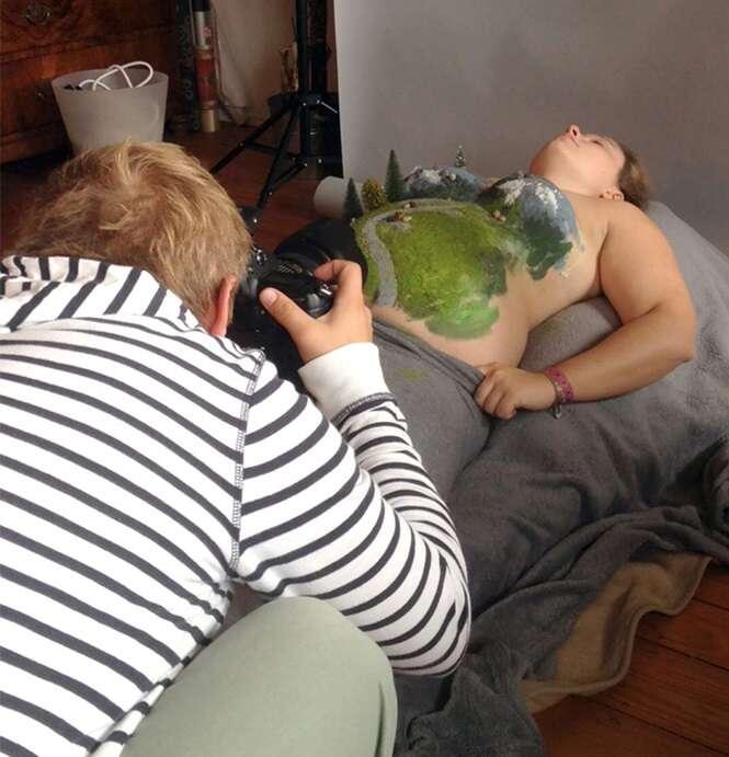 Fotógrafo anuncia gravidez da esposa com série incrível de imagens
