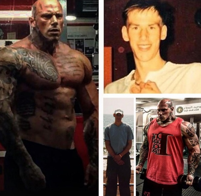 Jovem magro se transforma em um homem musculoso de 145 quilos e revela como conseguiu atingir corpo dos sonhos