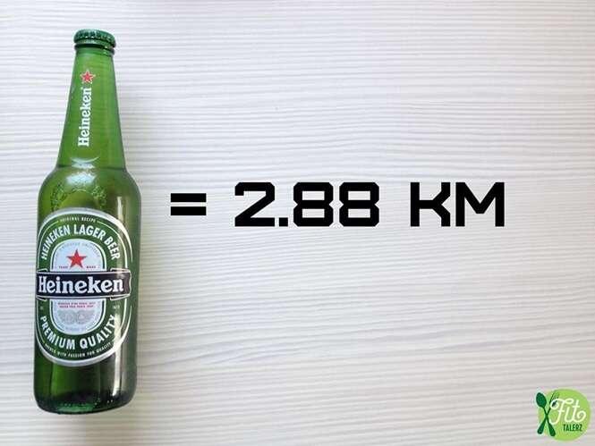 Imagens mostram quantos KM você deve correr para queimar gorduras provenientes de diferentes alimentos