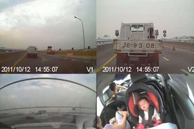 Vídeo mostra como é importante usar cinto de segurança e cadeirinha infantil