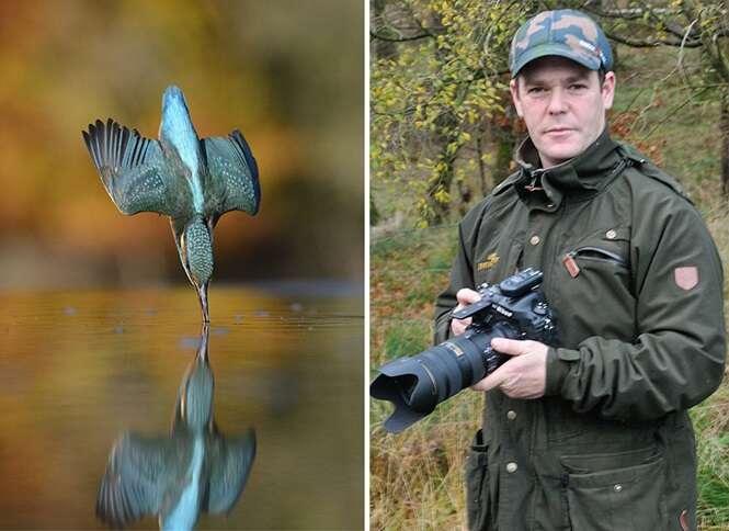 """Fotógrafo demora 6 anos e 720 mil tentativas para registrar o """"clique perfeito"""" em foto de pássaro"""