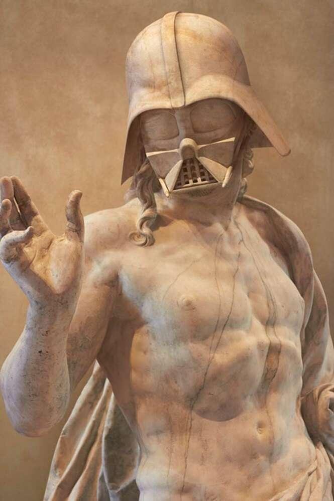 Artista recria personagens de Star Wars como estátuas gregas