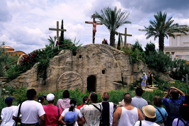 United States, Florida, Orlando , Holy Land expirencei amusement park, crucifixion of the Christ