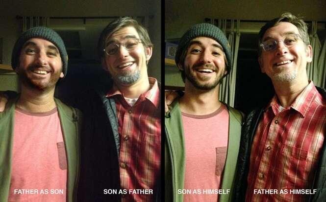 Pai e filho se fantasiaram um do outro no dia das bruxas e fazem sucesso ao confundirem internautas