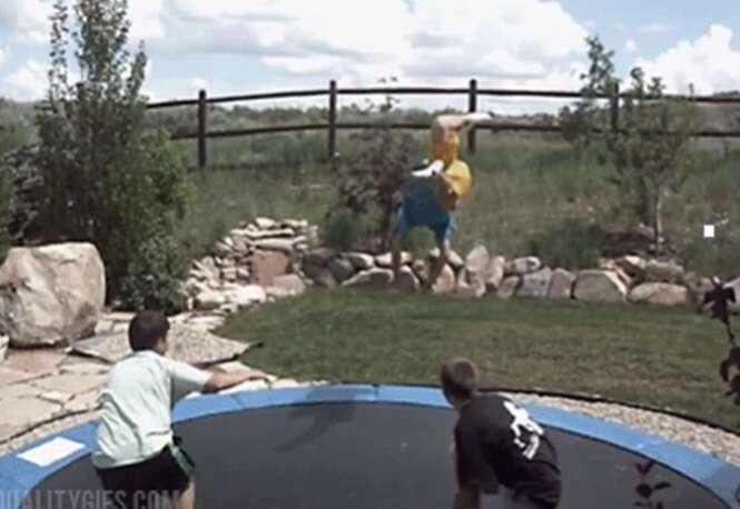 Pessoas que vão pensar duas vezes antes de usar um trampolim novamente