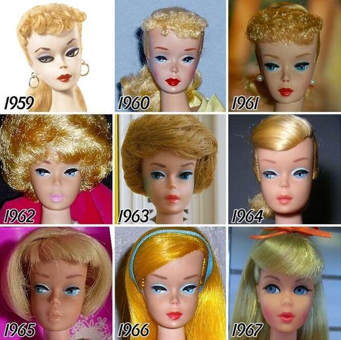 56 anos de evolução da Barbie