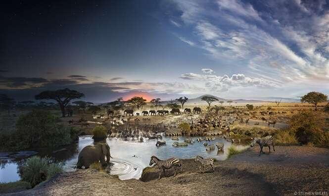Artista mistura dia e noite em fotos incríveis