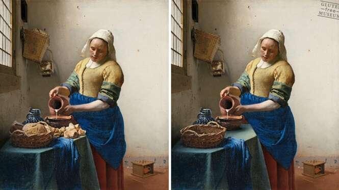 Artista recria obras clássicas retirando o glúten das imagens