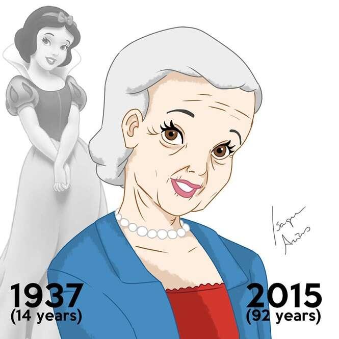 Como estariam as princesas da Disney se estivessem envelhecido?