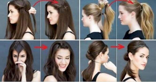 Penteados simples que podem ser feitos em alguns segundos