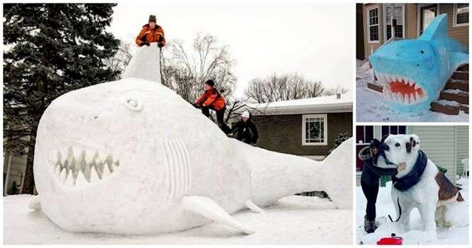 As mais impressionantes esculturas feitas de neve