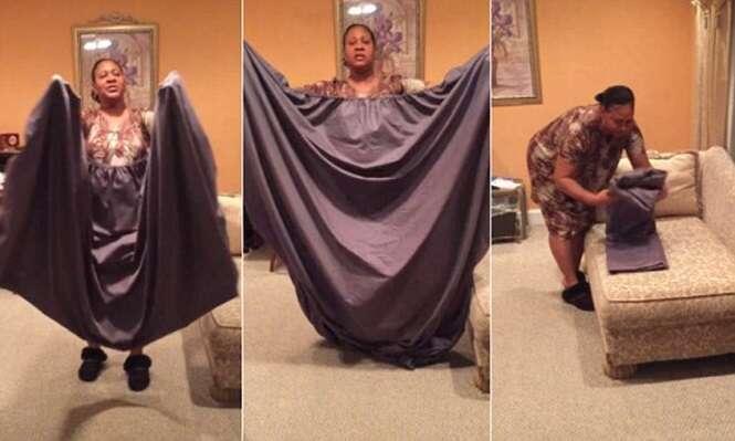 Vídeo ensina como dobrar lençol com elástico da forma correta