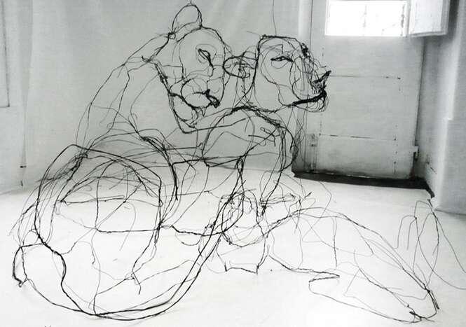 Esculturas incríveis feitas com arame
