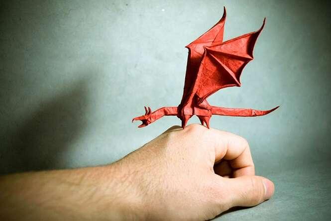 Verdadeiras obras de arte com a técnica de Origami