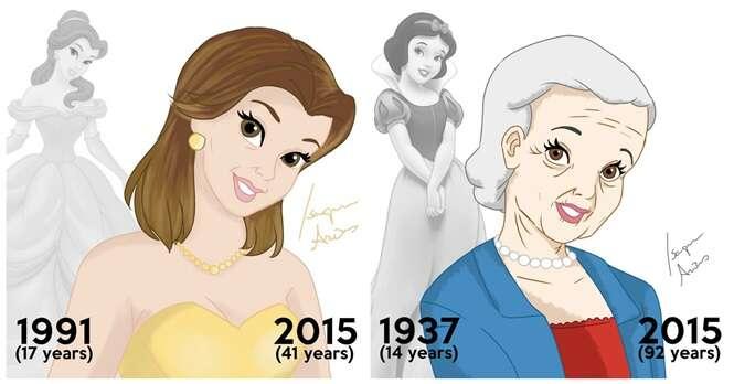 Como as famosas princesas da Disney estariam nos dias de hoje?