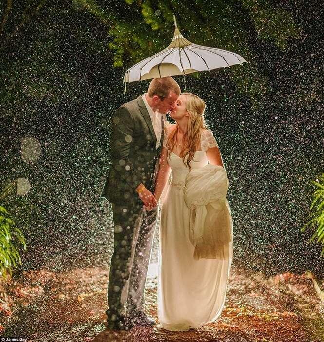 Fotos mágicas que provam que a chuva pode ser bem vinda durante o casamento