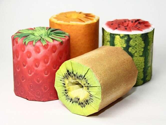 Empresa cria papel higiênico em formato de fruta
