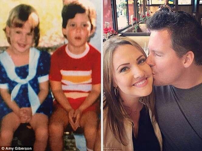 """Casal que se conheceu pela internet descobre após 1 ano de relacionamento que já tinham """"namorado"""" na infância"""