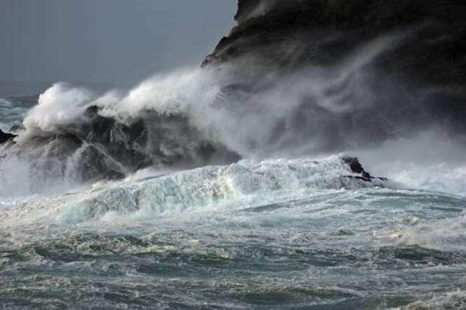 Gale at West Burra on Shetland