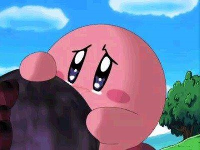 Kirby being sad  Source: Nintendo