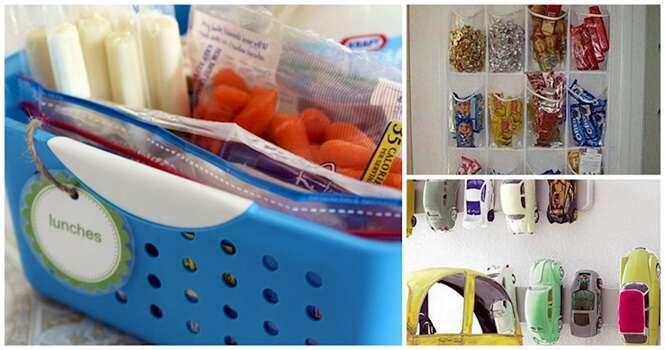 Ideias para organizar os itens de seus filhos