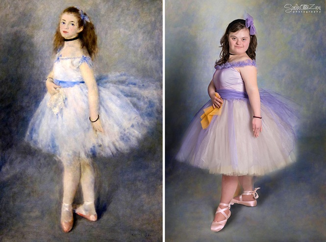 Crianças com Síndrome de Down recriam pinturas famosas