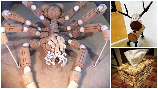 Obras de arte feitas com rolhas de vinho