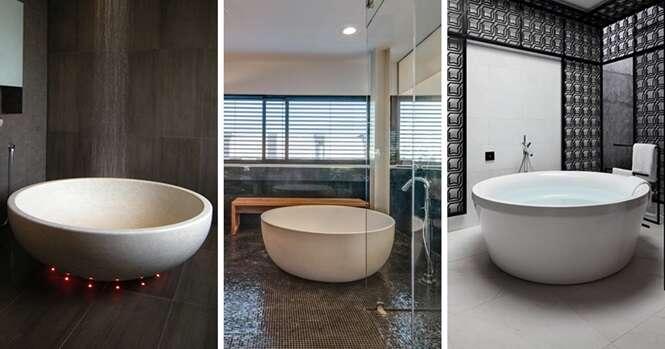Banheiras circulares para você relaxar