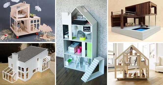 Casas de bonecas modernas para suas filhas