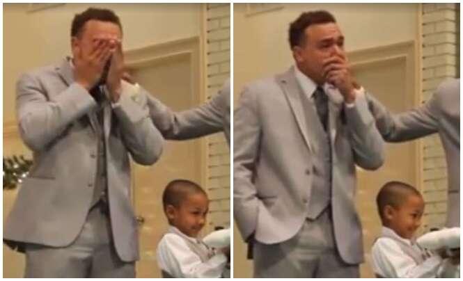 Vídeo de noivo chorando incontrolavelmente enquanto espera noiva subir ao altar divide opiniões no Facebook
